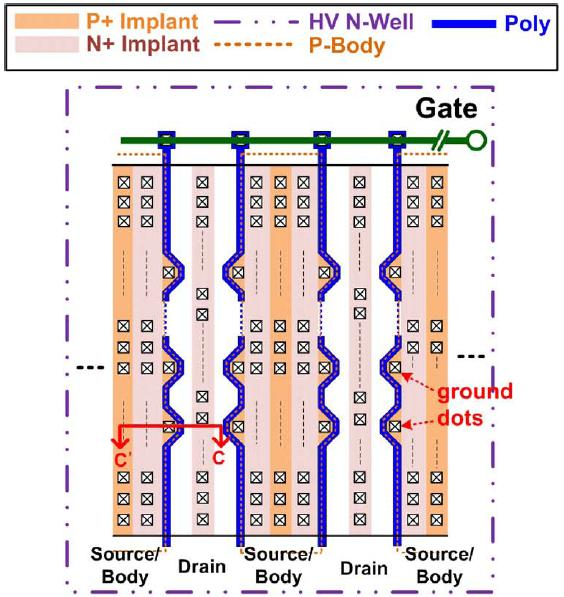Characterization of SOA in time domain and the improvement techniques for using in high-voltage integrated circuits